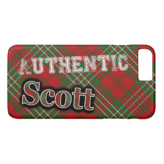 Design escocês do Tartan de Scott do clã autêntico Capa iPhone 7 Plus