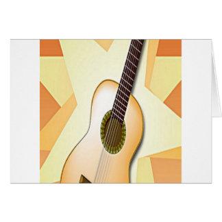 Design espanhol da guitarra cartões