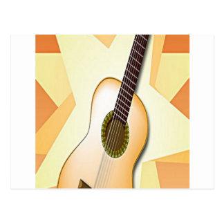 Design espanhol da guitarra cartão postal