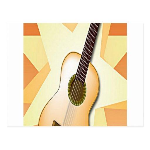 Design espanhol da guitarra cartao postal