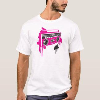 design estereofónico do dinamitador retro do gueto camiseta