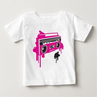 design estereofónico do dinamitador retro do gueto camiseta para bebê