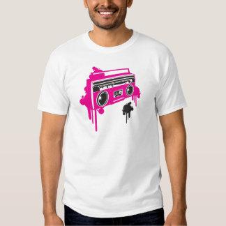 design estereofónico do dinamitador retro do gueto camisetas