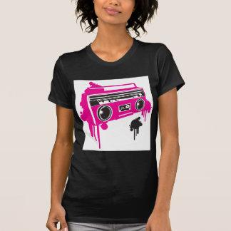 design estereofónico do dinamitador retro do gueto t-shirt
