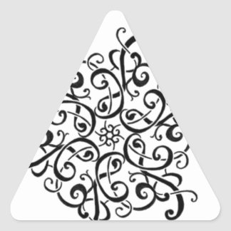 Design Etiqueta-Preto e branco do triângulo Adesivo Triangular