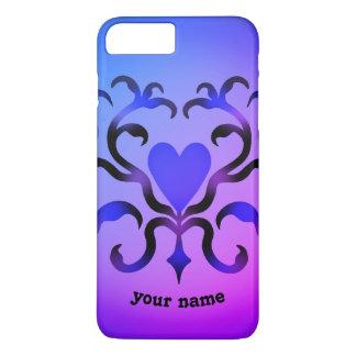 Design extravagante do coração capa iPhone 7 plus