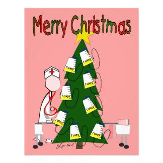 "Design ""Feliz Natal "" do Natal da enfermeira Panfletos"