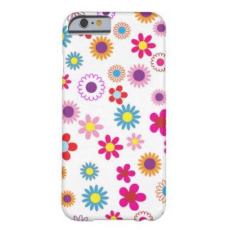 Design feminino bonito da flor capa barely there para iPhone 6
