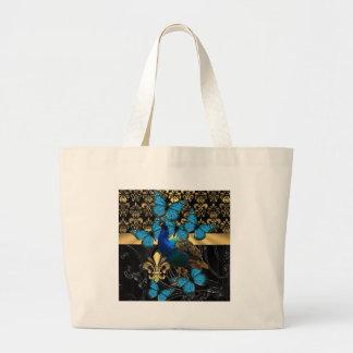 Design feminino bonito do pavão sacola tote jumbo