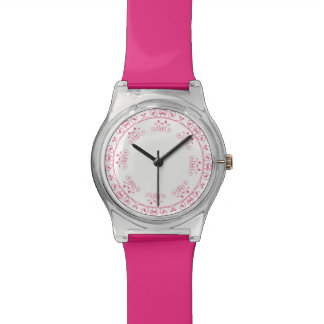. Design feminino cor-de-rosa bonito Relógio De Pulso
