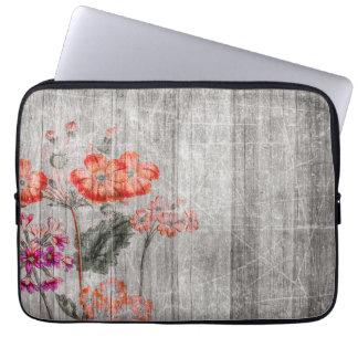Design floral colorido capa para laptop