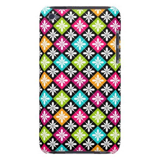 Design floral colorido do teste padrão de Argyle Capa Para iPod Touch