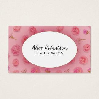 Design floral cor-de-rosa cartão de visitas
