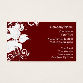 Design floral da terapia da massagem cartão de visitas