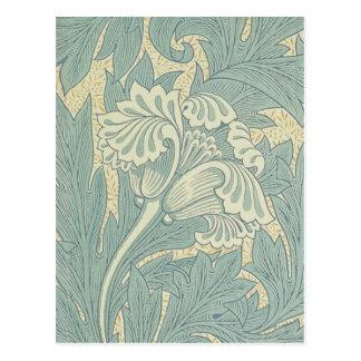 Design floral da tulipa de William Morris do Cartão Postal
