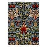 Design floral de William Morris Snakeshead Cartoes