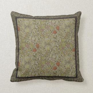 Design floral do impressão da arte do salgueiro do almofada