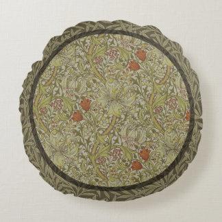 Design floral do impressão da arte do salgueiro do almofada redonda