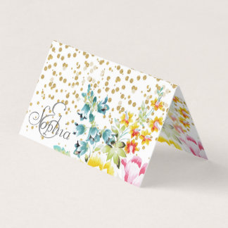 design floral dos confetes da pintura e do ouro da