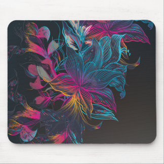 Design floral elegante | Mousepad da Multi-cor