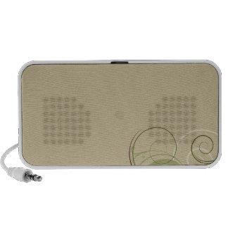 Design floral esverdeado e branco colorido caixinha de som para iPod