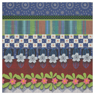 Design floral lunático bonito da beira | de Boho Tecido