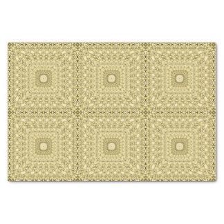 Design floral metálico gravado vintage da folha de papel de seda