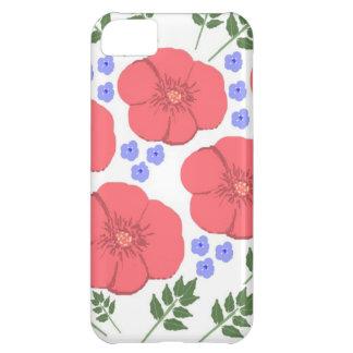 Design floral retro dos anos setenta capa para iPhone 5C