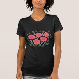 Design floral retro dos anos setenta camisetas