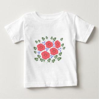 Design floral retro dos anos setenta t-shirts