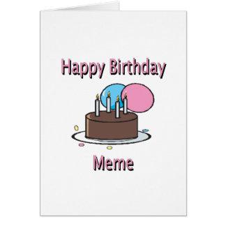 Design francês do aniversário de Meme do feliz ani Cartões