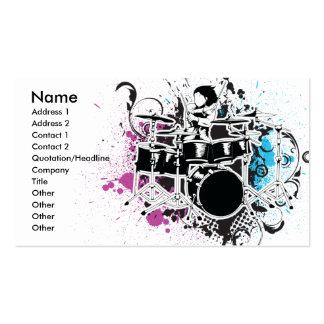 design funky do vetor do baterista cartão de visita