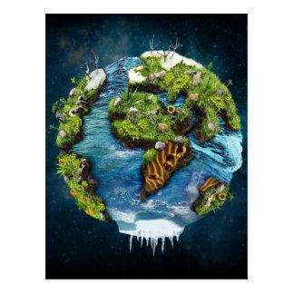 Design futuro legal do globo da terra do planeta cartão postal