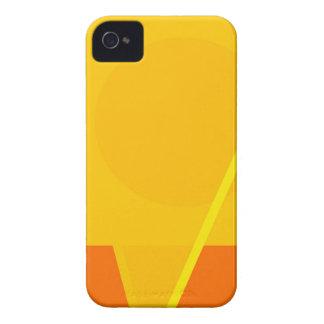 Design geométrico do abstrato do amarelo capas para iPhone 4 Case-Mate