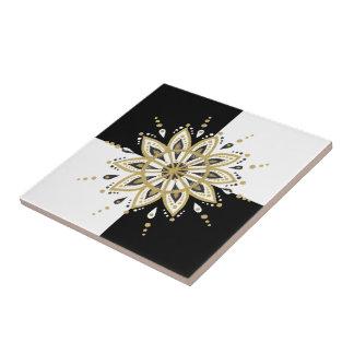 Design geométrico do ouro preto & da mandala