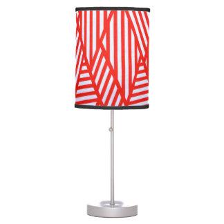 Design geométrico Vermelho-Branco da lâmpada do