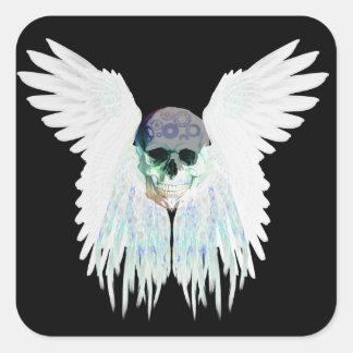 Design gótico voado do crânio perfeito para o Dia Adesivo Quadrado
