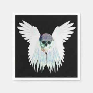 Design gótico voado do crânio perfeito para o Dia Guardanapo De Papel