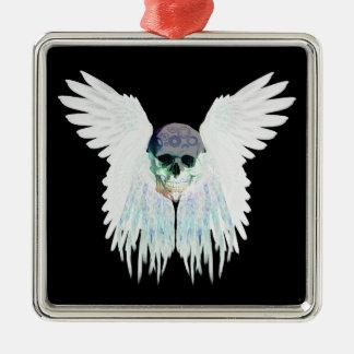 Design gótico voado do crânio perfeito para o Dia Ornamento De Metal