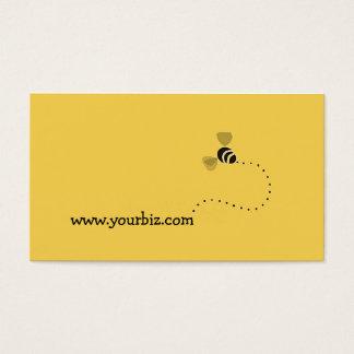 Design gráfico da abelha bonito simples dos cartão de visitas