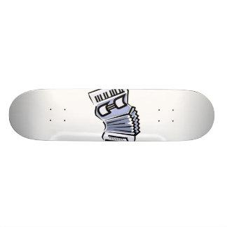 Design gráfico da imagem do acordeão azul, música skate