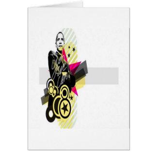 Design gráfico de Obama Cartão Comemorativo