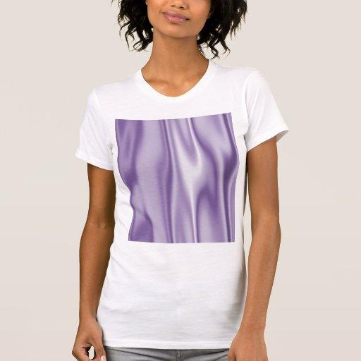 Design gráfico do tecido do cetim da lavanda camisetas