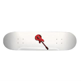 Design gráfico musical vermelho de guitarra elétri skate