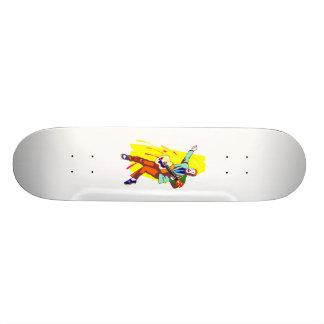 Design gráfico Rockabilly da imagem do guitarrista Skate