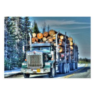 Design grande do equipamento do camionista para cartão de visita grande