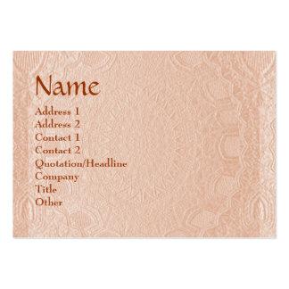 Design gravado listras do artesão cartão de visita grande