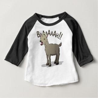 Design gritando do macarronete do Doodle da cabra Camiseta Para Bebê