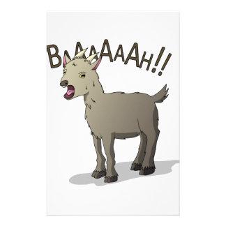 Design gritando do macarronete do Doodle da cabra Papelaria