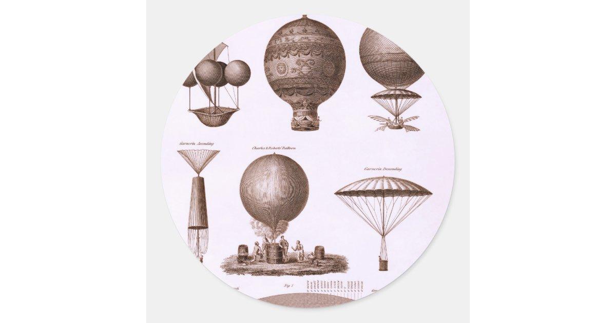 Adesivos De Caminhao Qualificados ~ Design histórico do bal u00e3o de ar quente adesivo Zazzle